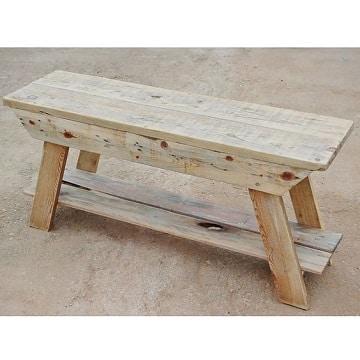 bancas de madera reciclada para la iglesia