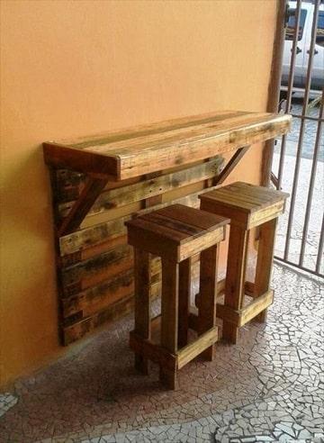 bancas de madera reciclada para negocio