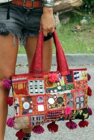 bolsos artesanales de tela diseños