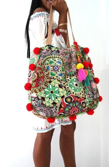 bolsos artesanales de tela grande