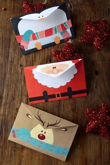 como elaborar una tarjeta navideña figuras