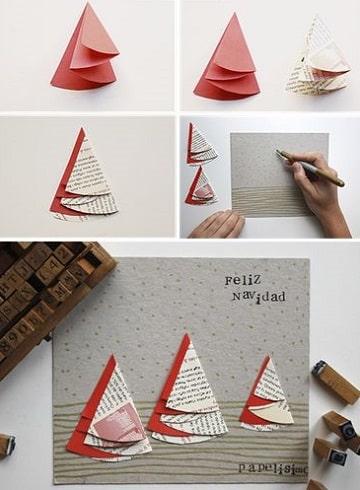 como elaborar una tarjeta navideña paso a paso