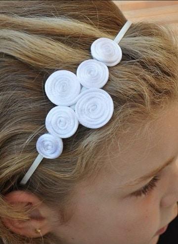 como hacer cintillos de flores para niñas
