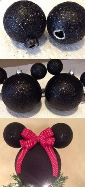 como hacer esferas de mickey mouse pintadas