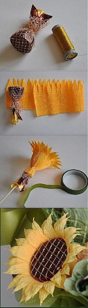 como hacer flores de papel pinocho paso a paso
