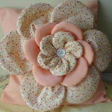 como hacer flores de tela para el cabello y botones