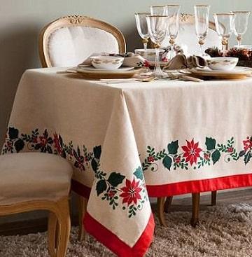 como hacer manteles navideños costurados