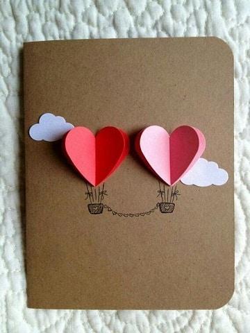 como hacer regalos para san valentin tarjetas