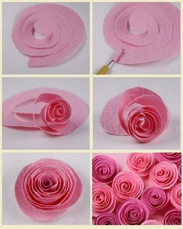 Mira como hacer rosas con cartulina lindas y facilmente