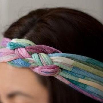como hacer vinchas para el cabello con tela
