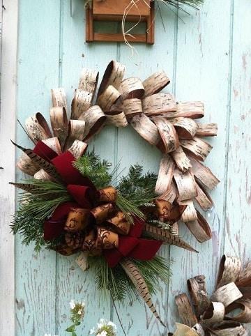 coronas de navidad hechas a mano con plantas