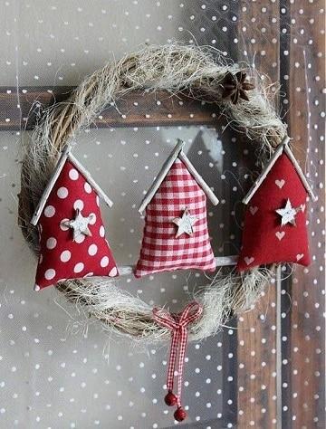 coronas de navidad hechas a mano diseños