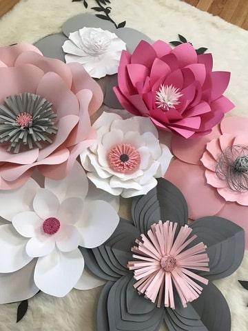 flores de papel cartulina diseños