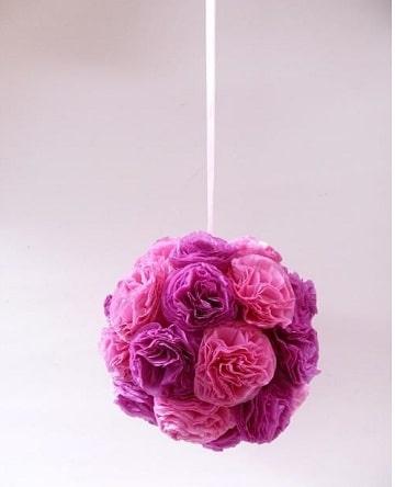 guirnaldas de flores de papel para colgar