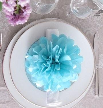 guirnaldas de flores de papel para decoracion de banquete