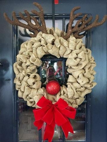 imagenes de coronas de navidad de reno