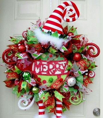 imagenes de coronas de navidad grande