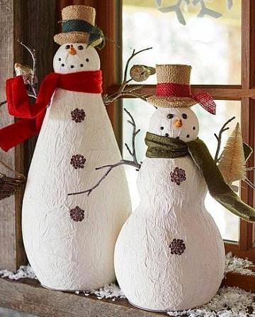 imagenes de muñecos navideños papel mache