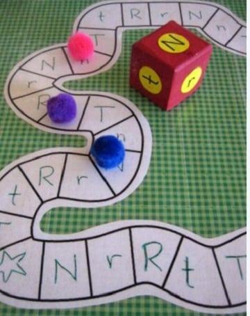 juegos de mesa para hacer a mano con letras