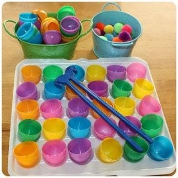 juguetes reciclados de botellas motor fino
