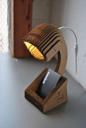 lamparas recicladas faciles de hacer con carton