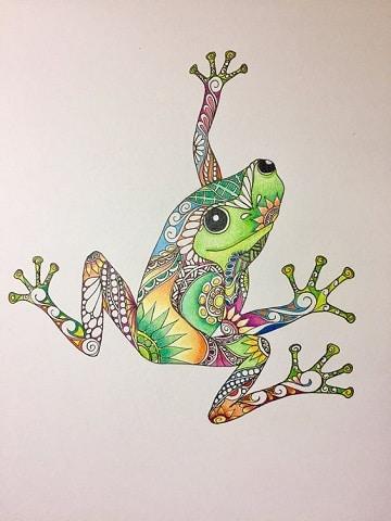 mandalas de animales pintados rana