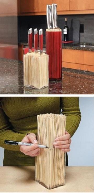 manualidades para la cocina faciles para cuchillos