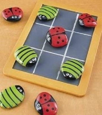 mariquitas pintadas en piedras para juego