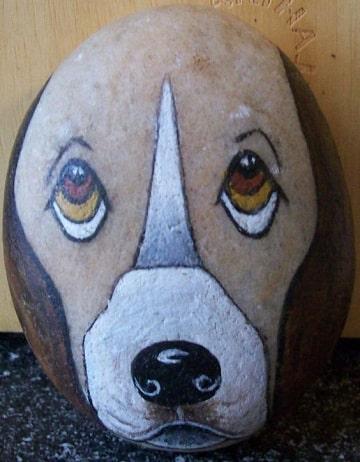 piedras grandes pintadas para jardin animales