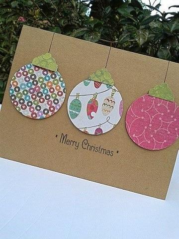 tarjetas de navidad artesanales con carton