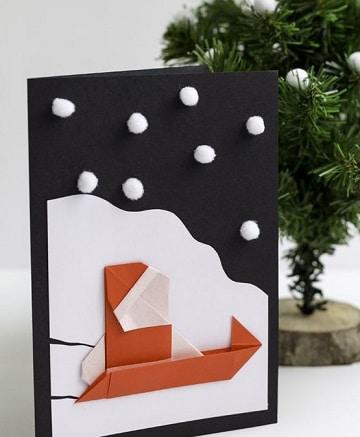 tarjetas de navidad artesanales con figuras