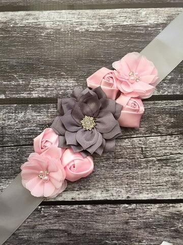 vinchas con flores de tela sencillas