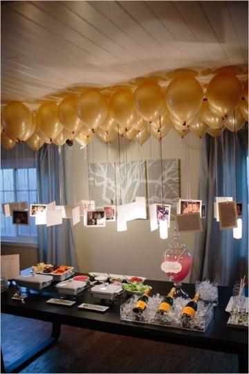 adornos para año nuevo con globos