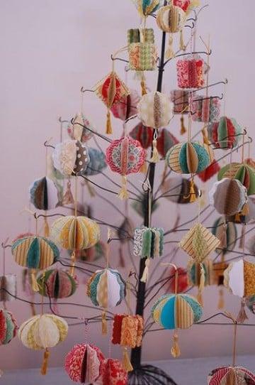 arboles de navidad hechos a mano con papel