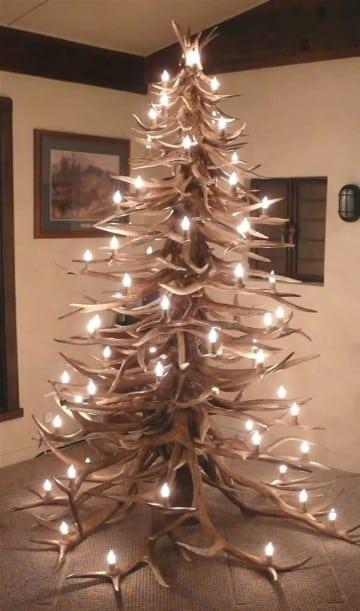 Los arboles de navidad hechos de madera son la tendencia - Arbol de navidad hecho de luces ...