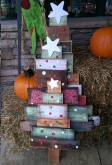 arboles de navidad hechos de madera originales