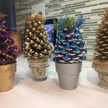 arboles navideños artesanales decorados