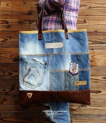 bolsos de jeans artesanales 2017