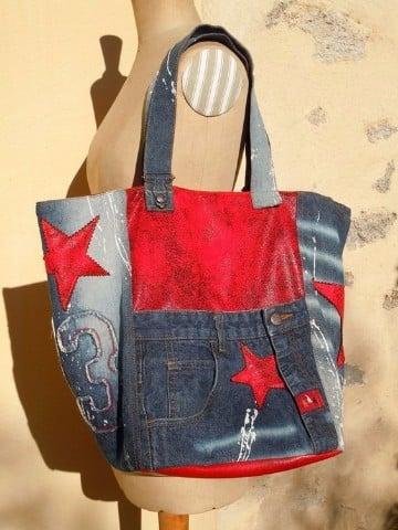 bolsos de jeans artesanales a mano