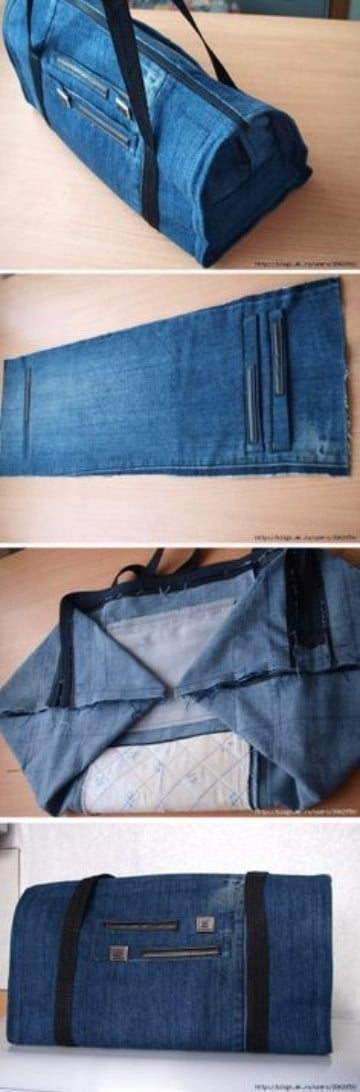bolsos de jeans artesanales paso a paso