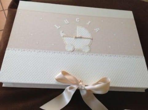 cajas de carton decoradas para bebes con tela