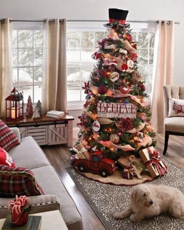 como adornar un pino de navidad en 2017