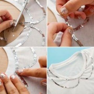 como coser lentejuelas sueltas con aguja