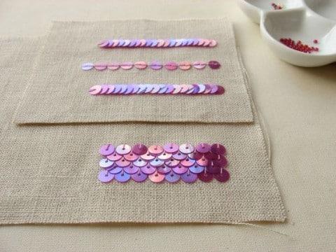 como coser lentejuelas sueltas para recorar