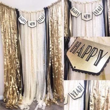como decorar para año nuevo con backdrop