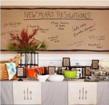 como decorar para año nuevo con resoluciones