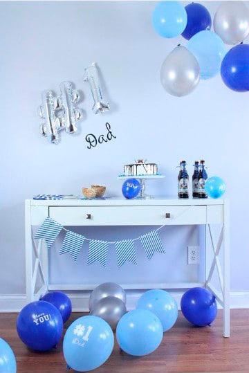 como decorar para el dia del padre en azul