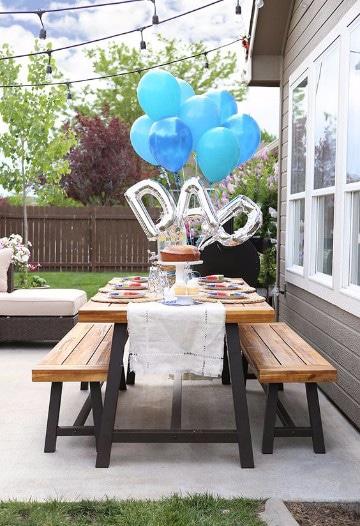 como decorar para el dia del padre en el jardin