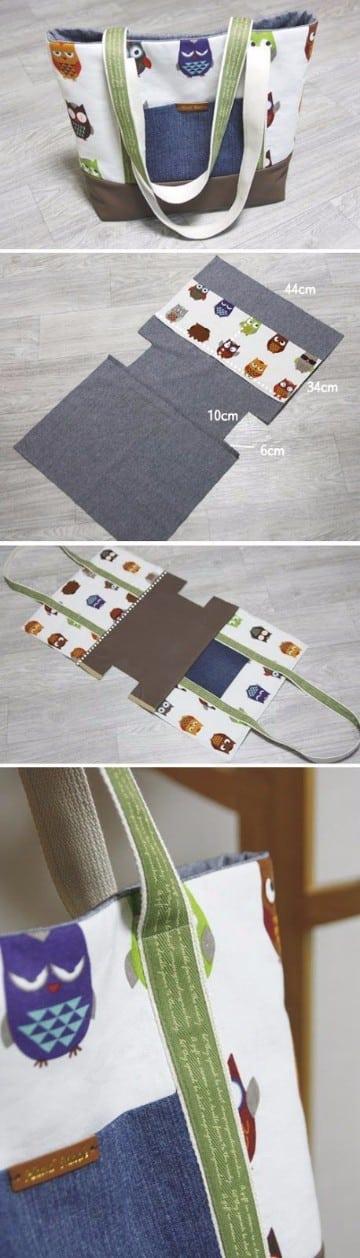 como hacer bolsos de tela hechos en casa