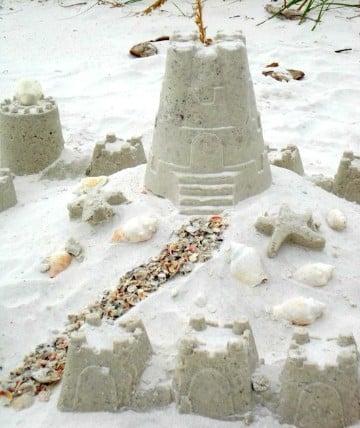 como hacer castillos de arena creativos